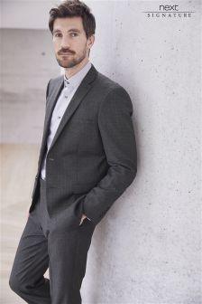 Karirasta moška obleka klasičnega kroja Signature: suknjič