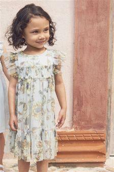 Printed Mesh Dress (3mths-6yrs)