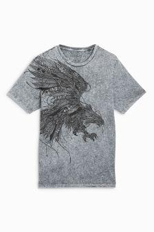 Sprana majica s kratkimi rokavi z orlom