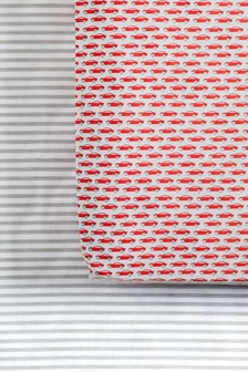 2 Pack Car And Stripe Fitted Sheets