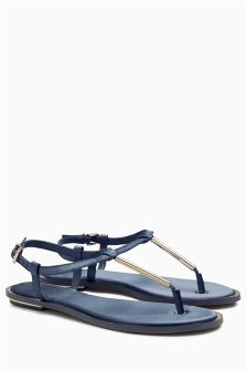 Satin T-Bar Sandals
