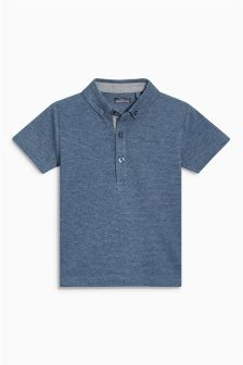 Short Sleeved Textured Polo (3mths-6yrs)