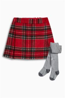 Check Kilt With Character Tights (3mths-6yrs)