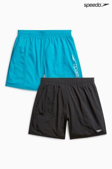 "Speedo® Blue/Black Challenge 15"" Watershort Two Pack"