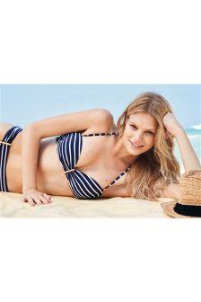 Stripe Bandeau Bikini Top