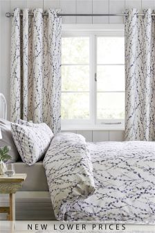 Willow Blackout Lined Eyelet Curtains