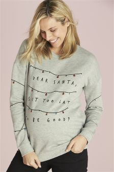 Maternity Christmas Sweatshirt