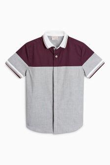Разноцветная рубашка в спортивном стиле с короткими рукавами (3-16 лет)