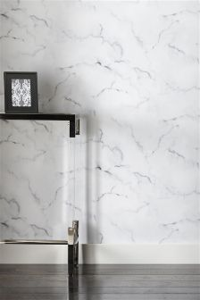 Paste The Wall White Marble Look Wallpaper