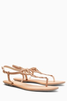 Leather Toe Post Sandals