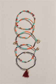 Beaded Detail Expander Bracelet Pack