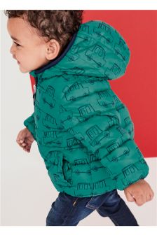 Padded Truck Print Jacket (3mths-6yrs)