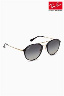 Czarne okulary przeciwsłoneczne bez oprawek Ray-Ban® Aviator