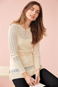 Stitch Longline Sweater