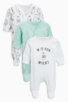 Milk Sleepsuits Three Pack (0个月-2岁)