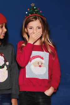 Christmas Flippy Sequin Sweater (3-16yrs)