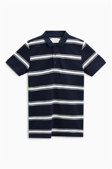 Pique Striped Polo (3-16yrs)