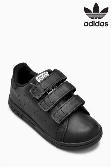 adidas Originals Black Stan Smith Velcro