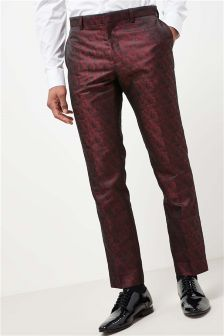 Leaf Jacquard Suit: Trousers