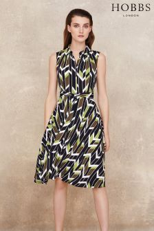 Hobbs Lime Green Rowena Dress