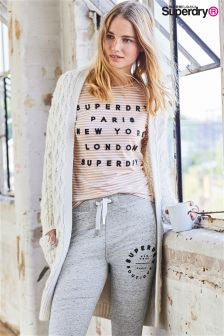 Superdry Oatmeal Twist Elicia Cable Cardigan