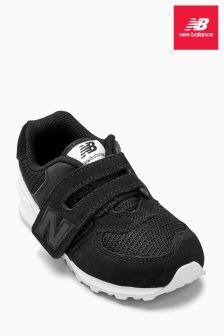New Balance Black 574 Velcro