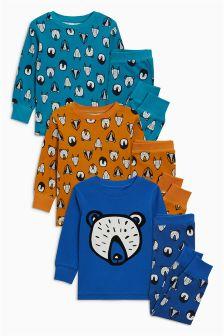 Badger Snuggle Fit Pyjamas Three Pack (9mths-8yrs)