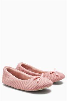 Rib Ballerina Slippers