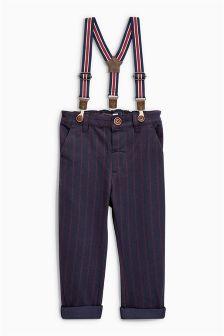 Braced Pinstripe Trousers (3mths-5yrs)