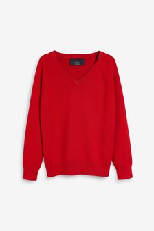 针织V领套衫 (3-16岁)