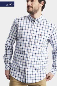 Joules Blue Over Check Classic Fit Wilby Shirt