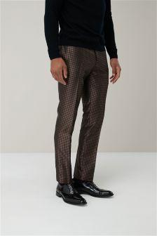 Geometric Jacquard Skinny Fit Suit: Trousers