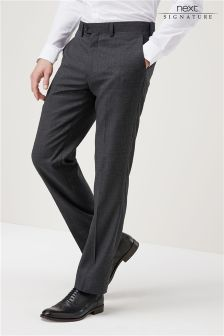 Signature Check Regular Fit Suit: Trousers