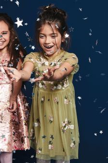 Floral Embroidered Dress (3-16yrs)