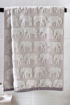 Elephant Jacquard Towels