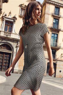 فستان بجيب جاكار
