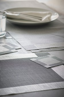 Set Of 8 Chrome Placemats And Coasters