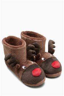 Reindeer Slipper Boot (Mens)