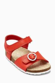 Buckle Corkbed Sandals (Younger Girls)
