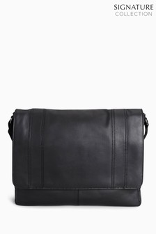 Signature Leather Panelled Messenger