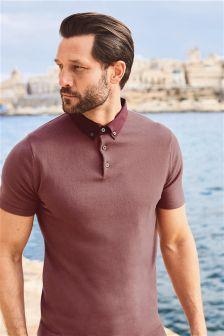 Woven Collar Poloshirt