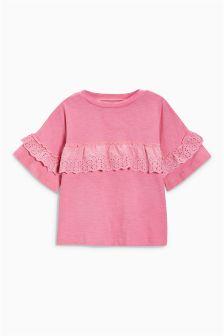 Frill Short Sleeve T-Shirt (3-16yrs)