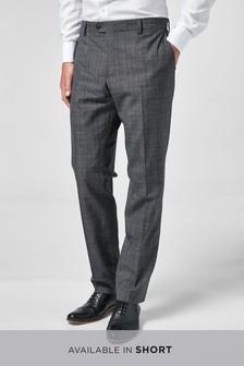 Текстурированный костюм зауженного кроя в клетку: брюки