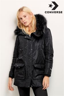 Converse Black Sideline Quilted Jacket