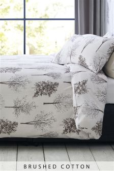 Brushed Cotton Trees Bed Set