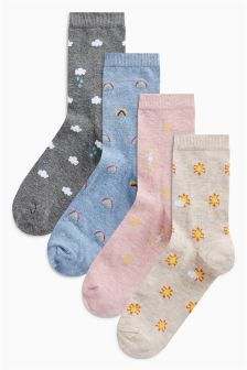 Weather Pattern Ankle Socks Four Pack