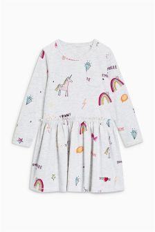 Long Sleeve Frill Dress (3mths-6yrs)