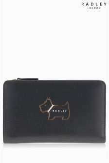 Radley Black Heritage Dog Outline Medium Zip Top Purse