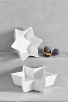 Set Of 2 Star Shaped Bowls