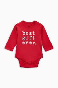 Slogan Long Sleeve Bodysuit (0mths-2yrs)